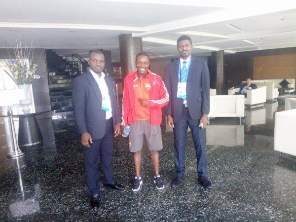 une parti de ma vie le sport  avec des officiel dans un championat afrique