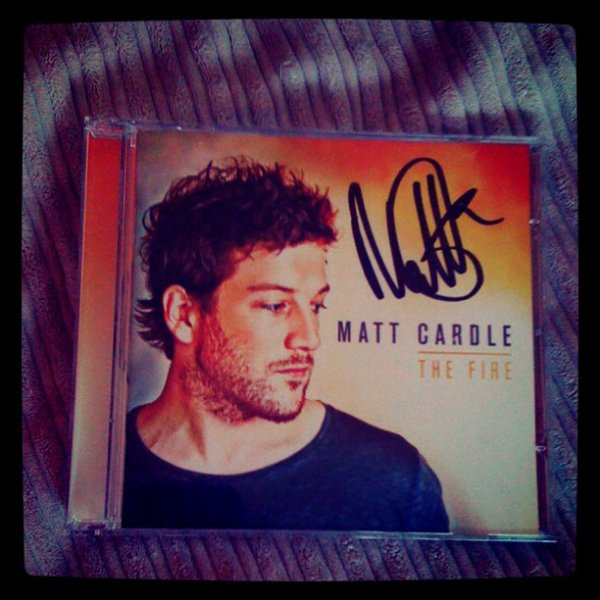 MATT CARDLE'S ALBUM SIGNED BY THE MAN HIMSELF