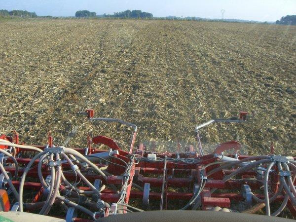 semis de Blé avec le John Deere