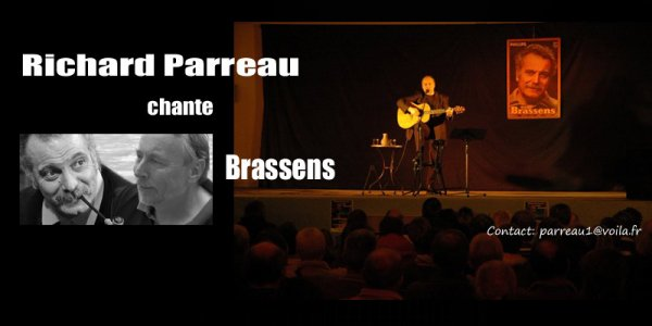 RICHARD PARREAU CHANTE BRASSENS SUR FACEBOOK