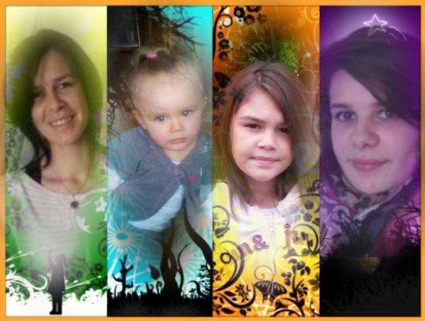 moi et mes 3 filles