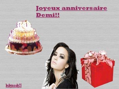 Joyeux annversaire Demi!!