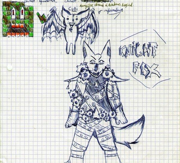 Killer Animals: Knight Fox et Cubi (Brouillon)
