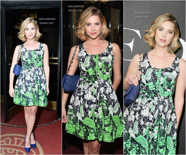 """*ashleysbenson* 18/02/15 - Ash était à Miu Miu Women's Tales 9th Edition """"De Djess""""  à New York City.  Encore une fois j'adore sa robe, elle est magnifique ! Elle rayonne, toute souriante. J'adore !"""