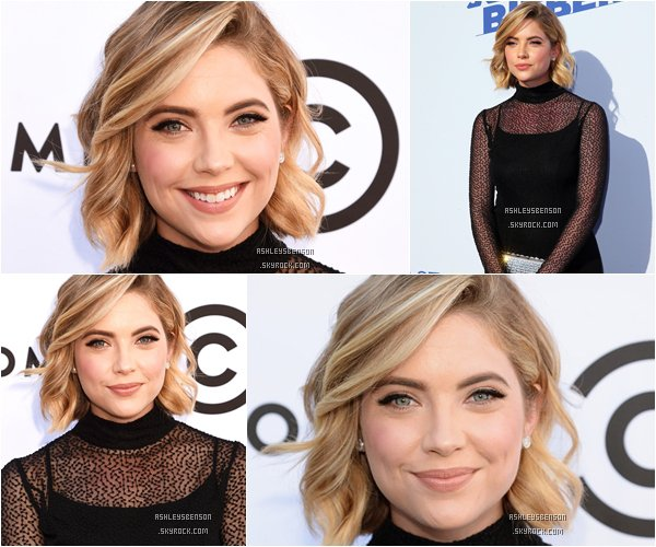 "*ashleysbenson* 14/03/15 - Ashley B assiste à  ""The Comedy Central Roast of Justin Bieber "".   Je ne suis vraiment pas fan de sa robe, par contre, son maquillage est léger, il lui va à ravir!"