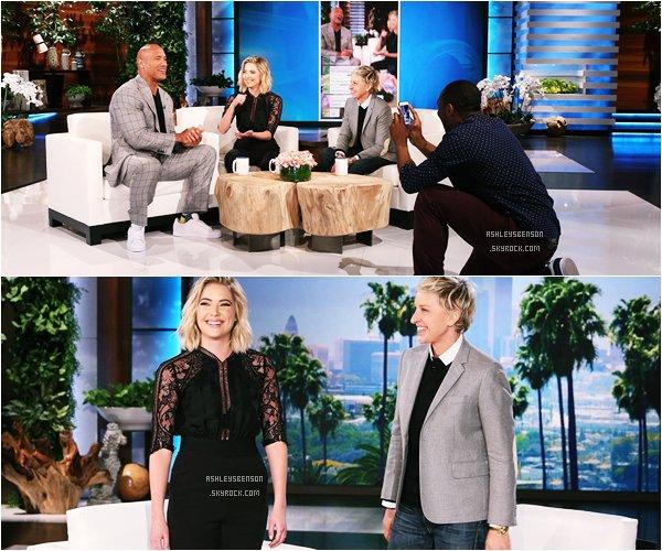 *ashleysbenson* 01/04/15 - Ashley était à l'émission d'Ellen DeGeneres .Elle est toute souriante, ça fait plaisir, j'aime bien son haut à dentelle.