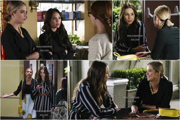 """Voici les stills de la saison 6 de PLL, l'épisode 4 intitulé """"Don't Look Now"""" et l'épisode 5 """"She's No Angel""""."""