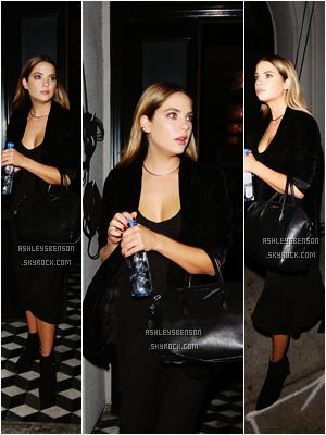 Le 12 Octobre, A.Benson était avec son amie et co-star Shay Mitchell, sortaient du restaurant Craig's Restaurant dans West Hollywood. J'aime vraiment bien sa tenue, malgré sa longue robe, elles sont toute belles. J'adore quand elles sont ensemble.