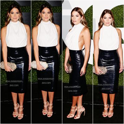 """Le 03 Décembre, Ashley Benson s'est rendue à la fête """"The QG Men Of The Year Party"""" dans Los Angeles. Sa tenue est parfaite, j'aime beaucoup, c'est simple et en même temps sophistiqué, j'adore sa jupe et son haut blanc, un beau top."""