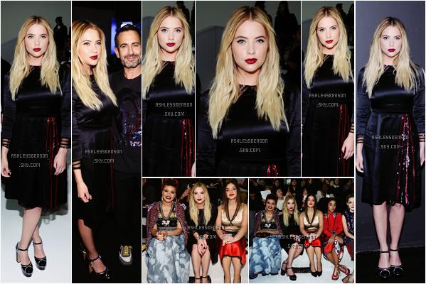 Le 18 Février, la belle Ashley s'est rendue au défiler de Marc Jacobs pendant la fashion Week de New York. Sa robe est originale, ça lui va bien mais je ne suis pas complètement fan pareils pour ses chaussures. Par contre j'adore son maquillage et sa coiffure.
