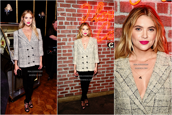 Le 25 Février, Ash était à I Love Coco Backstage Beauty Lounge  à Los Angeles. Je la trouve magnifique et le mot est faible sur cette sortit, sa tenue est parfaite, son make-up aussi et sa coiffure de même, un beau top.