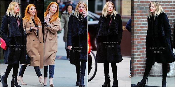Le 19 Février, Ashley Benson se baladait dans Soho à NYC. Sa tenue est jolie, sans plus, j'adore son sac à main ! Top.