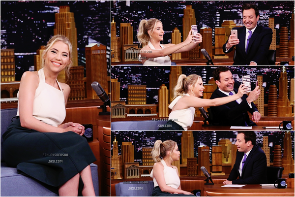 Le 23 Juin, Mlle Benson s'est rendue sur le plateau de The Tonight Show with Jimmy Fallon. Peu de photos, mais ça tenue à l'air cool, elle est toute jolie et toute souriante, ça fait plaisir, top.