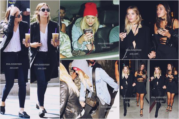13/10/16 : Ashley Benson était seule, elle sortait de Coffee Bean, West Hollywood. Le 8/10 et le 07/10, elle était avec des ami(e)s et a été vue sortant du restaurant Catch, West Hollywood. Que des tops.