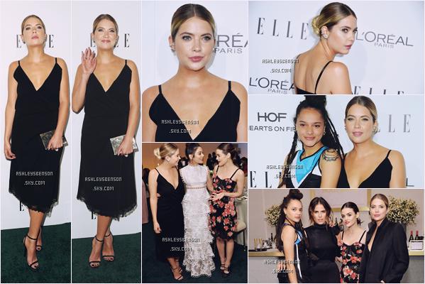 24/10/16 :  Ashley était avec Lucy Hale et Vanessa Hudgens à la 23ème soirée d'ELLE Women, Hollywood. Une superbe tenue, j'adore tut dedans, son chignon est sublime, elle est parfaite. Le 22/10, elle se promenait dans LA.