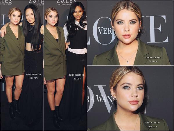 07/12/16 : Mlle Benson s'est rendue à la soirée de Vera Wang : Love Fine Jewellery, New York. Elle a d'ailleurs posé avec cette dernière, j'adore sa tenue, le vert lui va vraiment bien, son blazer est parfait, un très très beau top.