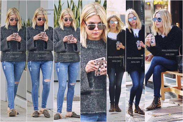 09/12/16 : Ashley Benson se promenait, toute bien vêtue dans les rues de Beverly Hills. + La veille, elle se promenait également mais dans les rues de NYC. J'aime beaucoup moins la tenue, voire pas du tout.