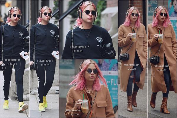 26/12/16 : Mlle Benson, en tenue de sport, puis en tenue de tous les jours, se baladait dans New York City. Je sais pas ce qui lui prend avec ses cheveux rose, j'espère que ça ne va pas durer.. J'aime bien sa tenue de ville, elle lui va très bien.