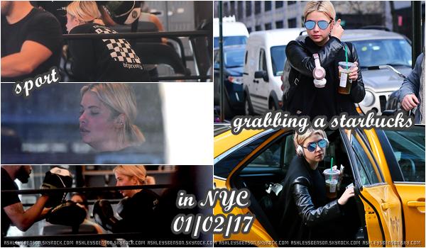 01/02/17 : Ash s'est rendue au déjeuner du médicament contre l'acné, Differin, New York City. Avant ça, elle a été vue en ville. Côté tenue, j'adore, même si cela reste très noir, comme à son habitude.. Top.