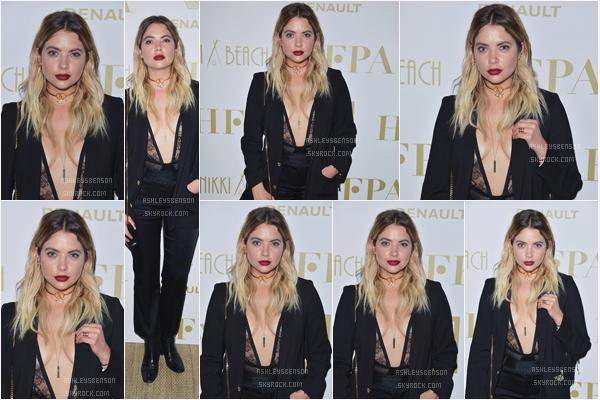 """21/05/17 : Ashley Benson s'est rendue à l'événement """"Hollywood Foreign Press Association's"""", Cannes (FR). Elle était très très belle, j'adore sa tenue noire, un beau top pour elle. Elle est au festivale pour la marque L'oréal."""