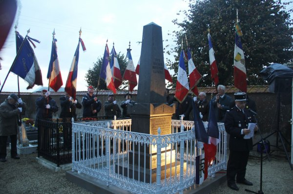 Inauguration du Monument de 1870 à St SIGISMOND le 9 Novembre 2013 à 17h00