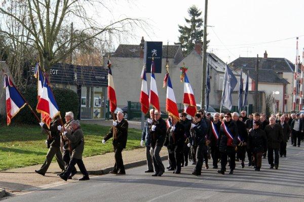 La cérémonie en l'honneur des Morts pour la France en Algérie le 5 décembre 2015 à Patay