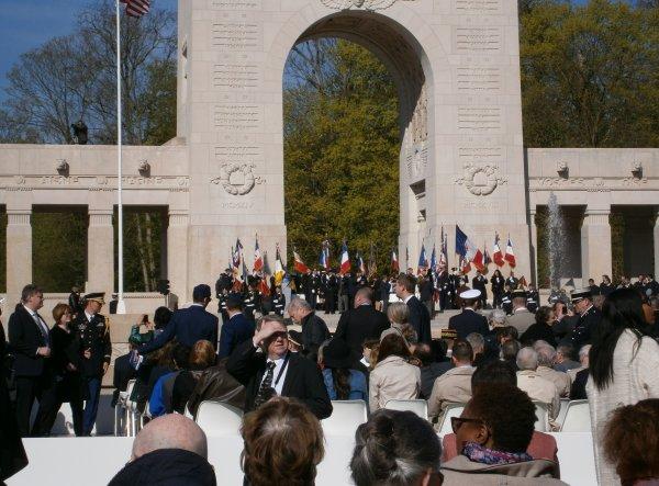 Cérémonie au Mémorial de l'escadrille LAFAYETTE