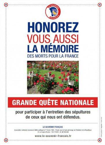 99ème Quête du Souvenir Français                                                                                      du 28 Octobre au 2 Novembre 2017