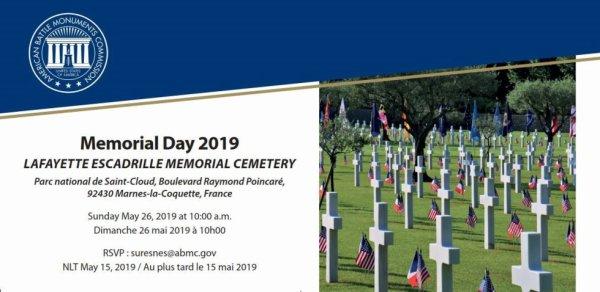 Mémorial Day le 26 mai 2019 à Marnes-la-Coquette