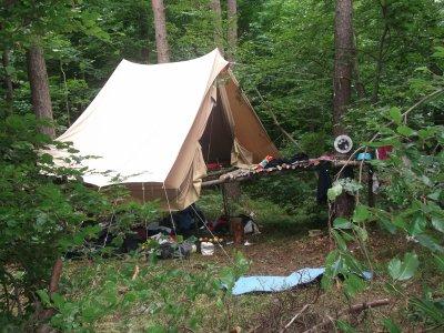 Et la tente !