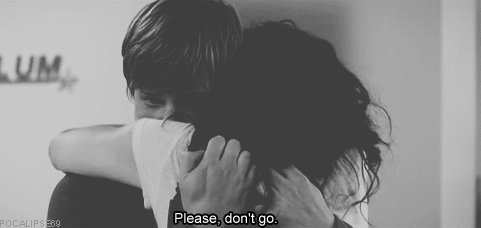 I wanted to die in your arms, but not now...