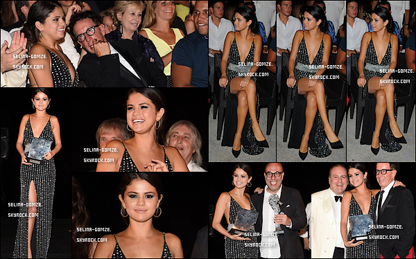 . 19/07/14 : Selena s'est rendue à la cérémonie Ischia Global : Icônes des enfants.