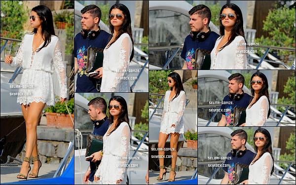 . 20/07/14 : Après 4 jours passé à Ischia, Selena a enfin mis fin à son séjour - direction Monte Carlo..