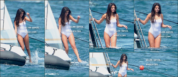 . Plus tard, accompagnée de ses amis, Selena a été vue au bord d'un yatch avant de faire trempette..