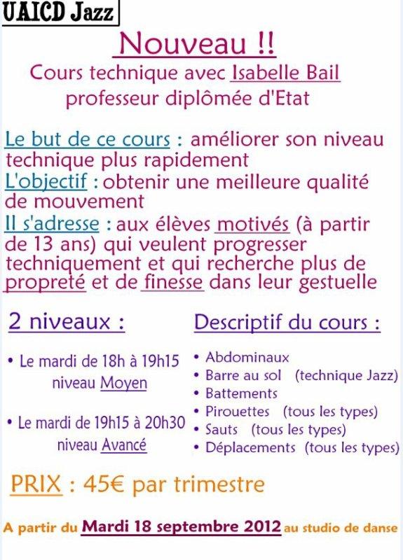 Nouveaux cours dès la rentrée 2012 à l'U.A.I.C.D ^^