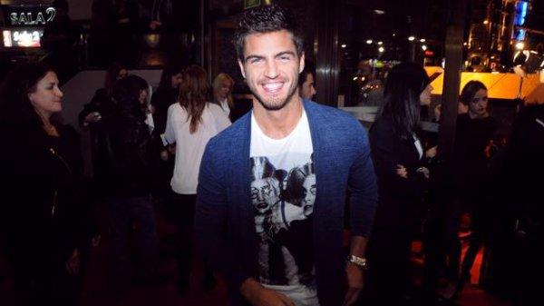 """Maxi  était présent à la première du film """" Alacran enamorado"""" a madrid le 10/04/2013"""