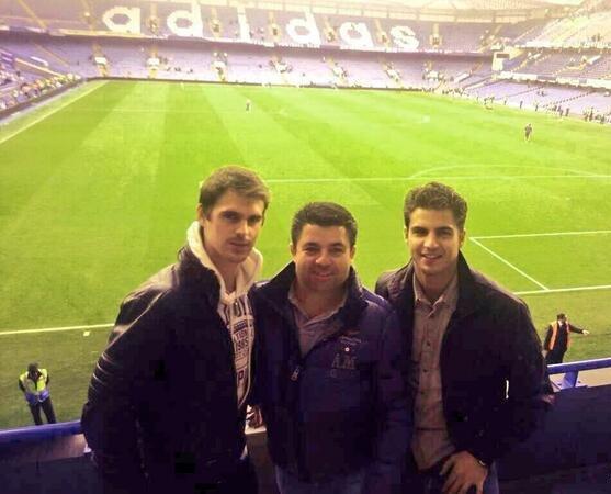 ♥ Maxi Iglesias et Gonzalo Ramos à Londres pour voir Chelsea  ♥