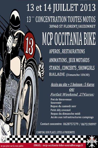 13ème concentration toutes motos les 13 & 14 juillet 2013