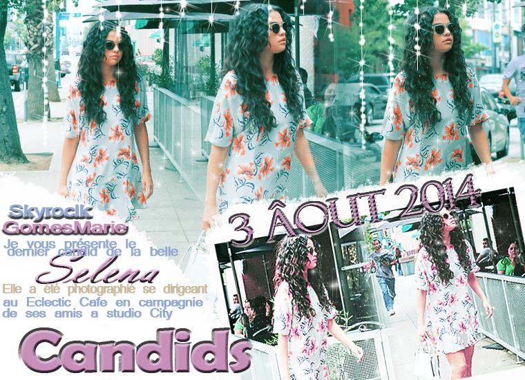 le3 de ce mois Selena a été vu avec ses amis partir pour déjeuner, plus d'info sur le candid sur la créa