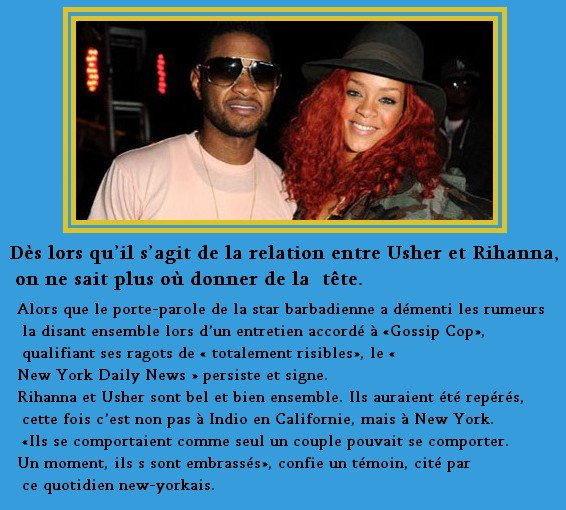 Usher et Rihanna -Un baiser à New York