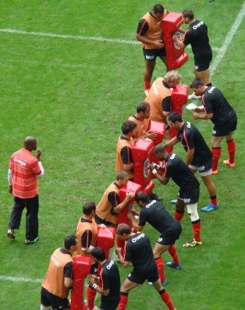 TOP 14 Finale (Stade Toulousain / Toulon) :Entrainement des Toulousains