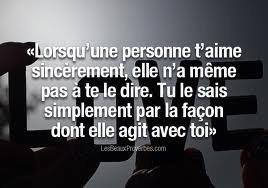 L'amour sincere ....
