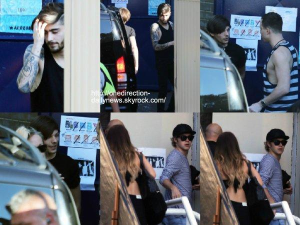 6 février 2015 : Les gars ont été vus au Stade à Sydney