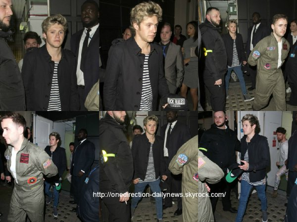 4 mai 2015 : Niall a été vu alors qu'il quittait le Libertine nightclub à Londres