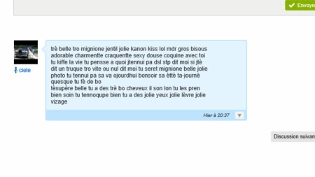 Message de fan touchant n°1