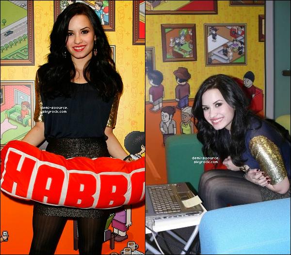 25.01.2010 : Demi a fait un chat en direct, via le site Habbo.com