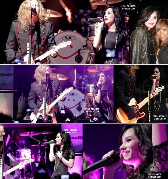 """*  21.02.2010 : Demi & les We the kings ont chanté """"We'll be a dream"""", au House of blues. *"""