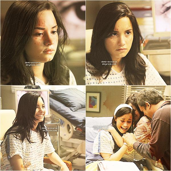* Stills de l'épisode de Grey's Anatomy dans lequel Demi joue le rôle d'une schzyzophrène.  *