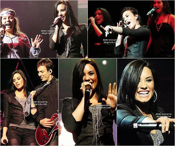 * 23.05.2010 : Demi a donné le premier concert de sa tournée en Amérique du Sud, à Santiago (Chili)  Selon elle, il y a eu une secousse de magnitude elevée le soir du concert, elle a du quitter la scène un instant.  *