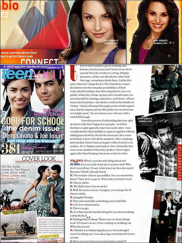 * Découvrez les photos (très retouchées !) du site Cambio,   ainsi que les scans du magazine Teen Vogue du mois d'aôut 2010.  *